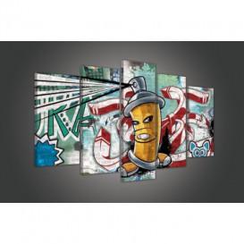 Obraz na plátně vícedílný - OB3723 - Grafit