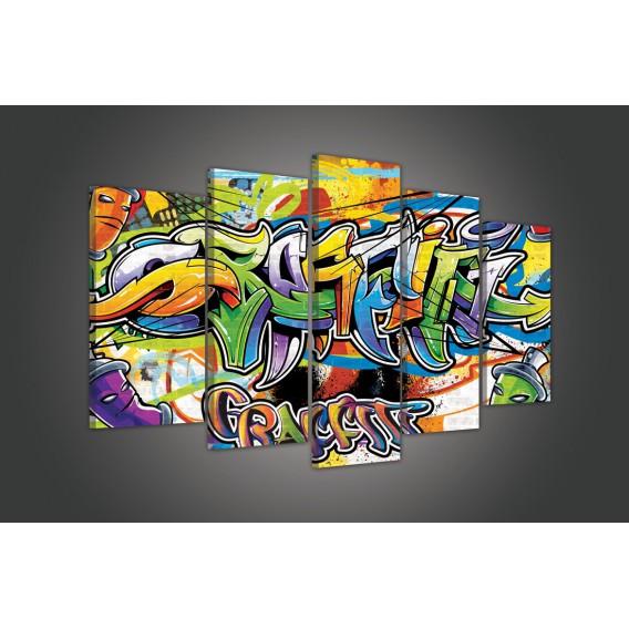 Obraz na plátne viacdielny - OB3724 - Grafity