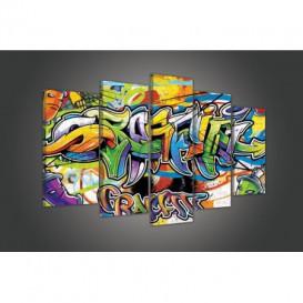 Obraz na plátně vícedílný - OB3724 - Grafity