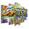 Obraz na plátne viacdielny - OB3726 - Grafity