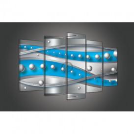 Obraz na plátne viacdielny - OB3740 - Modrá abstrakcia