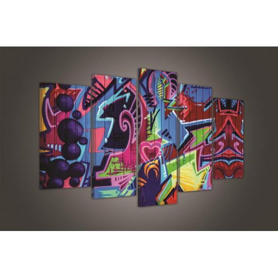 Obraz na plátne viacdielny - OB3745 - Grafity