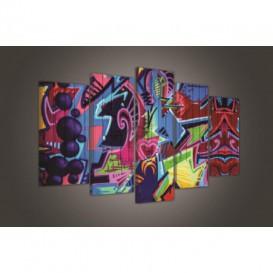 Obraz na plátně vícedílný - OB3745 - Grafity