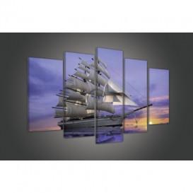 Obraz na plátne viacdielny - OB3759 - Loď