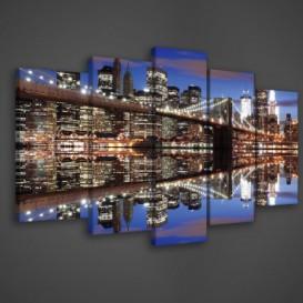 Obraz na plátne viacdielny - OB3760 - Osvetlený New York