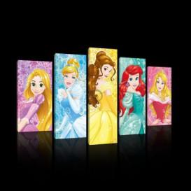 Obraz na plátne viacdielny - OB3763 - Disney Princezné