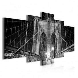 Obraz na plátne viacdielny - OB3767 - Most čierno biely