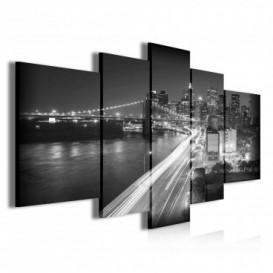 Obraz na plátne viacdielny - OB3780 - New York čierno biely