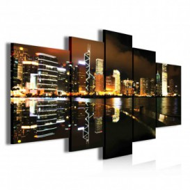 Obraz na plátne viacdielny - OB3795 - Nočné mesto