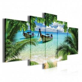 Obraz na plátne viacdielny - OB3814 - Pláž