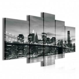 Obraz na plátne viacdielny - OB3821 - Čierno biely New York