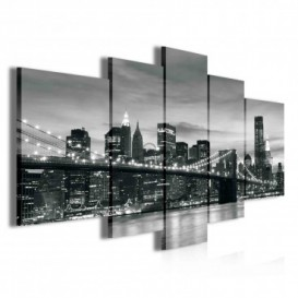 Obraz na plátně vícedílný - OB3821 - Černo bílý New York