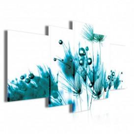 Obraz na plátne viacdielny - OB3850 - Tyrkysová tráva
