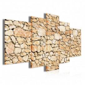 Obraz na plátně vícedílný - OB3851 - Kamenná stěna