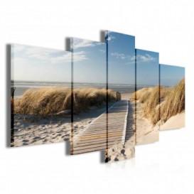 Obraz na plátne viacdielny - OB3854 - Chodník na pláž