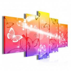 Obraz na plátne viacdielny - OB3855 - Motýle
