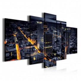 Obraz na plátne viacdielny - OB3858 - Nočné mesto