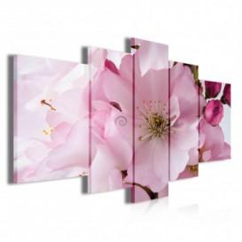 Obraz na plátne viacdielny - OB3860 - Ružový kvet
