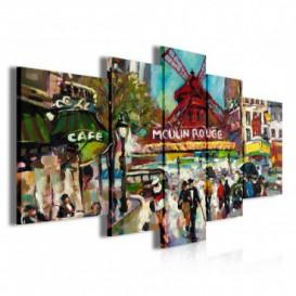 Obraz na plátne viacdielny - OB3865 - Moulin Rouge