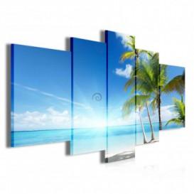 Obraz na plátne viacdielny - OB3871 - Pláž