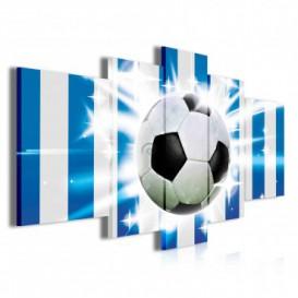 Obraz na plátne viacdielny - OB3874 - Futbalová lopta