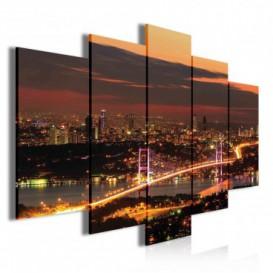 Obraz na plátně vícedílný - OB3881 - Noční město