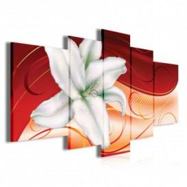 Obraz na plátne viacdielny - OB3886 - Biely kvet