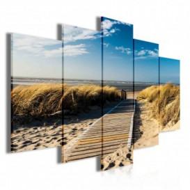 Obraz na plátne viacdielny - OB3887 - Pláž