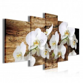 Obraz na plátne viacdielny - OB3888 - Biele kvety