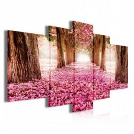 Obraz na plátne viacdielny - OB3893 - Ružový les