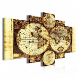 Obraz na plátne viacdielny - OB3901 - Mapa sveta