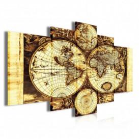 Obraz na plátně vícedílný - OB3901 - Mapa světa