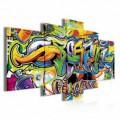 Obraz na plátne viacdielny - OB3903 - Grafity