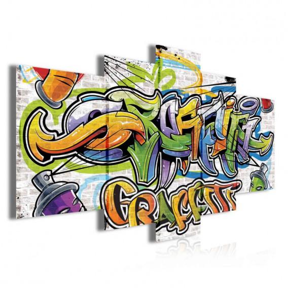 Obraz na plátne viacdielny - OB3904 - Grafity