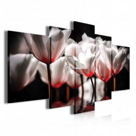 Obraz na plátne viacdielny - OB3913 - Červené kvety