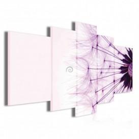 Obraz na plátne viacdielny - OB3915 - Púpava fialová