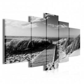 Obraz na plátne viacdielny - OB3916 - Chodník na pláž