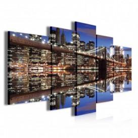 Obraz na plátně vícedílný - OB3918 - Osvětlený New York