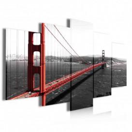 Obraz na plátne viacdielny - OB3921 - San Francisko most