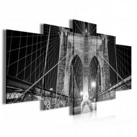 Obraz na plátne viacdielny - OB3923 - Most čierno biely