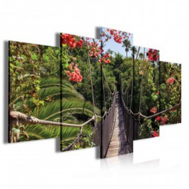 Obraz na plátně vícedílný - OB3931 - Visutý most v džungli