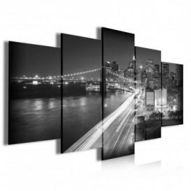 Obraz na plátne viacdielny - OB3935 - New York čierno biely