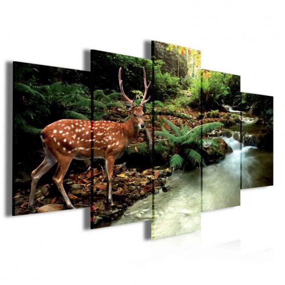 Obraz na plátne viacdielny - OB3942 - Jeleň v lese