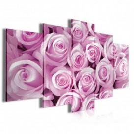 Obraz na plátne viacdielny - OB3944 - Ružové ruže