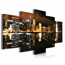 Obraz na plátně vícedílný - OB3951 - Noční město