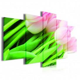Obraz na plátně vícedílný - OB3955 - Tulipány