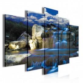 Obraz na plátně vícedílný - OB3960 - Vodopád