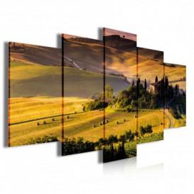 Obraz na plátně vícedílný - OB3966 - Západ slunce nad krajinou