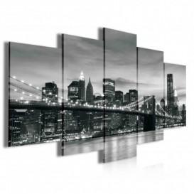 Obraz na plátně vícedílný - OB3974 - Černo bílý New York