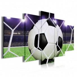 Obraz na plátne viacdielny - OB3979 - Futbalová lopta v sieti